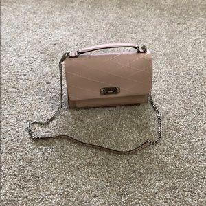Rebecca Minkoff bag in beige dusty pink color